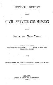 Report of the Civil Service Commission of the State of New York to His Excellency, the Governor