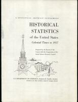 Historical Statistics of the United States  Colonial Times to 1957 PDF