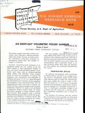 An eight-day volumetric pollen sample