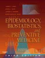 Epidemiology  Biostatistics and Preventive Medicine PDF