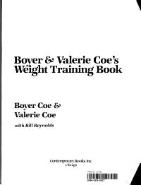 Boyer   Valerie Coe s Weight Training Book
