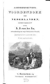 Aardrijkskundig Woordenboek der Nederlanden: Z en Aanhangsel, Volume 13