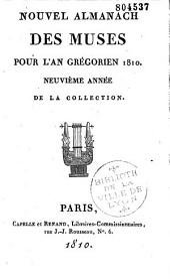 Nouvel almanach des Muses de 1802 à 1810