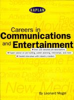 Careers in Communications and Entertainment PDF