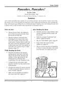 Eric Carle Literature Activities--Pancakes, Pancakes!