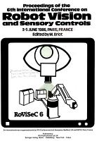 Proceedings of the 6th International Conference on Robot Vision and Sensory Controls  3 5 June 1986  Paris  France PDF