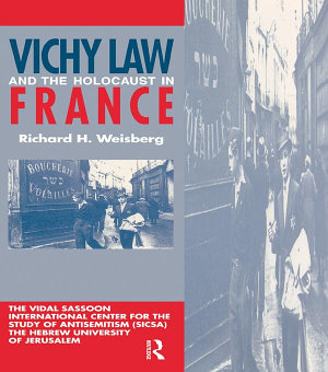 Vichy Law   the Holocaust Fran PDF