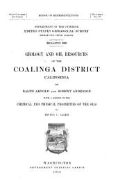 Geology and Oil Resources of the Coalinga District, California