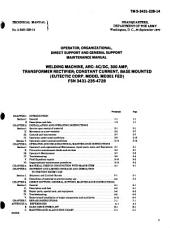 Operator, Organizational, Direct Support, and General Support Maintenance Manual: Welding Machine, Arc, AC/DC, 300 Amp, Transformer Rectifier, Constant Current, Base Mounted (Eutectic Corp. Model MD301 FED), FSN 3431-235-4728