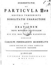 Commentatio de particula von nostris temporibus nobilitatis charactere