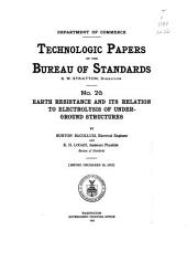 Technologic papers of the Bureau of Standards: Issue 26