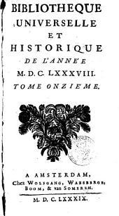 Bibliothèque universelle et historique: Volume11