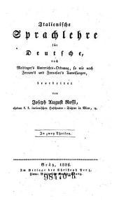 Italienische Sprachlehre für Deutsche