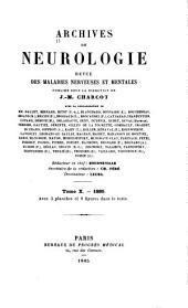 Archives internationale de neurologie, des maladies héréditaires, de médicine mentale et psychosomatique: Volume10