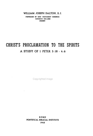 Christ s Proclamation to the Spirits PDF
