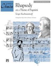 Rhapsody on a Theme of Paganini: Late Intermediate Piano Solo