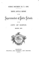Documents of the School Committee of the City of Boston: Issue 7