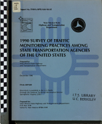 1990 Survey of Traffic Monitoring Practices Among State Transportation Agencies of the United States