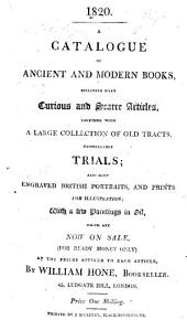 A catalogue of ancient and modern books ... now on sale ... by W. H., etc