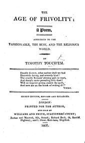 The Age of Frivolity; a poem