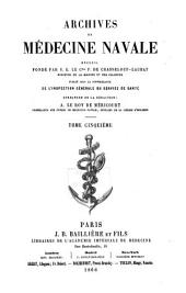 Archives de médecine navale: Volume 5