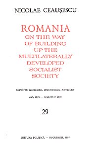 Romania on the Way of Completing Socialist Construction  Reports  Speeches  Articles PDF