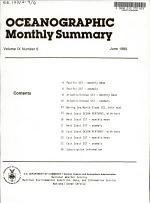 Oceanographic Monthly Summary