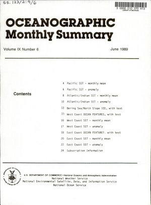 Oceanographic Monthly Summary PDF