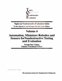Automation  Miniature Robotics  and Sensors for Nondestructive Testing and Evaluation PDF