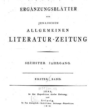 Jenaische allgemeine Literatur Zeitung PDF