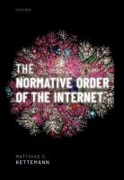The Normative Order of the Internet PDF