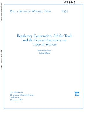 Regulatory Cooperation  Aid for Trade and the General Agreement on Trade in Services PDF