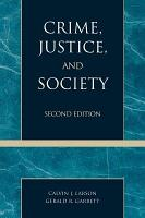 Crime  Justice  and Society PDF