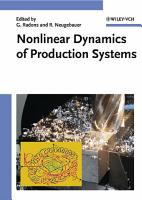 Nonlinear Dynamics of Production Systems PDF