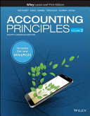 Accounting Principles  Volume 2  WileyPLUS Card with Loose leaf Set