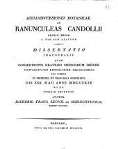 In Ranunculeas Candollii