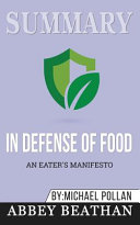 Summary of In Defense of Food Book