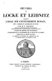 Oeuvres de Locke et Leibnitz