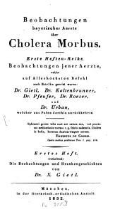 Beobachtungen und Krankengeschichten