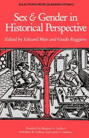 Sex And Gender In Historical Perspective