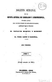 Boletín de la Revista general de legislación y jurisprudencia: Volumen 5