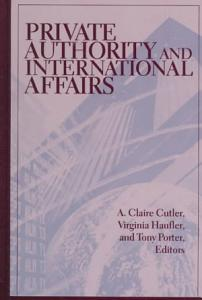Private Authority and International Affairs Book