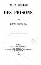 De La Réforme des prisons