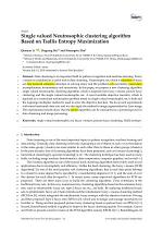 Single valued Neutrosophic clustering algorithm Based on Tsallis Entropy Maximization