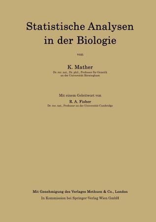 Statistische Analysen in der Biologie PDF