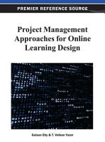 Project Management Approaches for Online Learning Design PDF