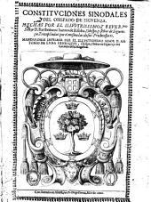 Constituciones synodales del Obispado de Siguenza