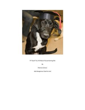 I ll Teach You All About Housetraining Me PDF