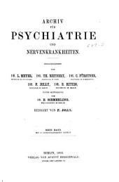 Archiv für Psychiatrie und Nervenkrankheiten: Band 23