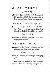 Nine Sermons Preached in the Parish of St. James, Westminster, on Occasion of the Late War and Rebellion..